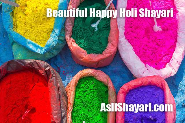 Beautiful Happy Holi Shayari
